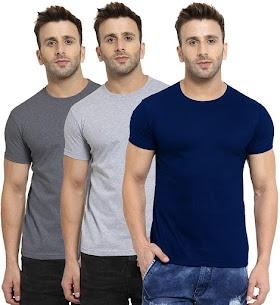 Men's Regular Fit T-Shirt (Pack of 3)