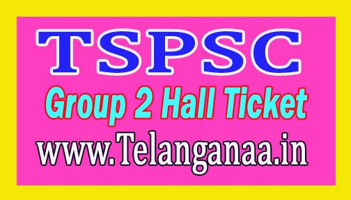 Telangana TSPSC Group 2 Hall Ticket 2016 Download