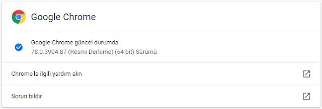 Chrome-hakkında tıkla güncelle: