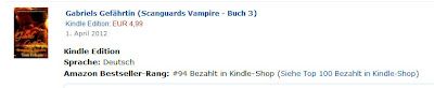 German Edition of Gabriel's Mate hits Top 100 Kindle on Release Day!