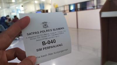 Pengalaman Perpanjangan SIM polres sleman