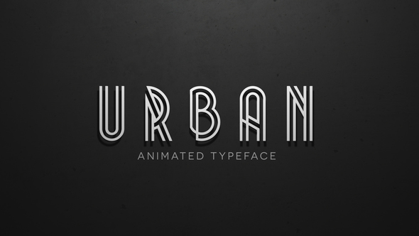 VIDEOHIVE URBAN - ANIMATED TYPEFACE After Effects Template