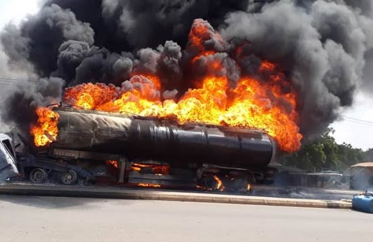 Photos: Petrol tanker explodes in Gombe