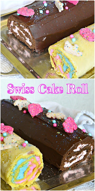 Swiss Chocolate Cake rolls are perfect for special occasions. I made these for a baby shower as a change from cupcakes. Trust me. Everyone loved them and they were so much fun to make! And they aren't hard to do! #cake #swissroll #partyfood www.thisishowicook.com