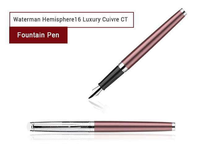 Waterman hemisphere 16 luxury cuivre ct fountain pen for Waterman 16