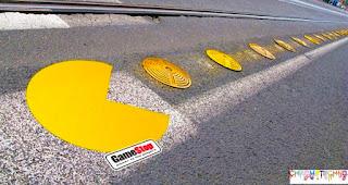 pacman guerilla marketing advertising