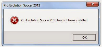 Solusi Pro Evolution Soccer 2013 has not been installed.