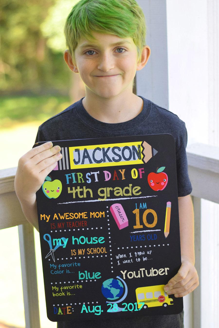 4th grade homeschool photo