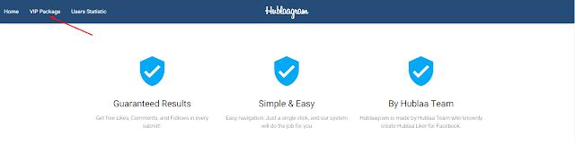 Cara akun Hublaagram member VIP untuk auto like instagram