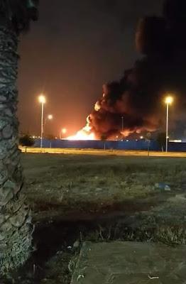 إنزكان بالصور  حريق بسوق الخضر والفواكه يخلف فزع وخسائر مادية جسيمة