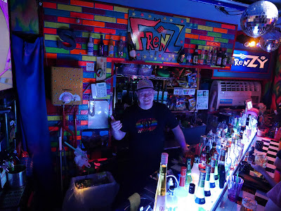 Frenz gay bar, Osaka, Japan - at the bar.