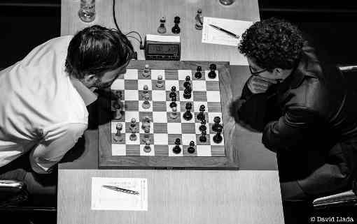 La ronde 14 du tournoi d'échecs des candidats opposant Alexander Grischuk à Fabiano Caruana - Photo © David Llada