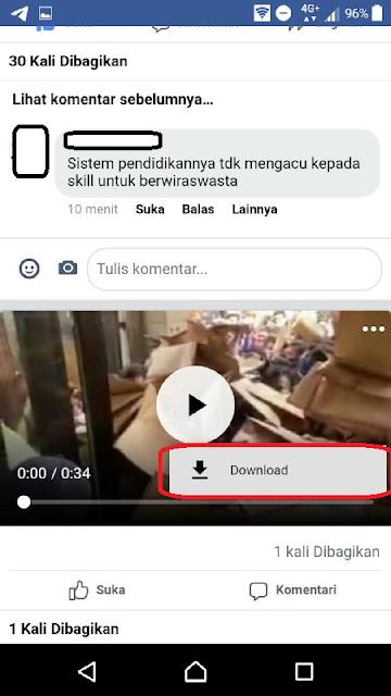 unduh video facebook di android