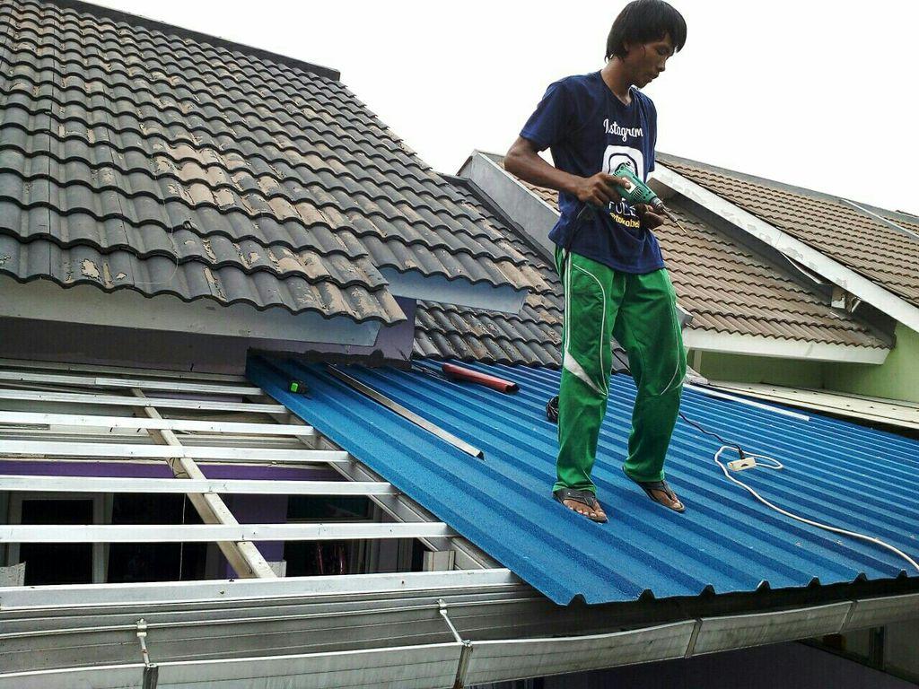 Biaya Baja Ringan Dan Genteng Jasa Pekerjaan Atap Plafond Renovasi