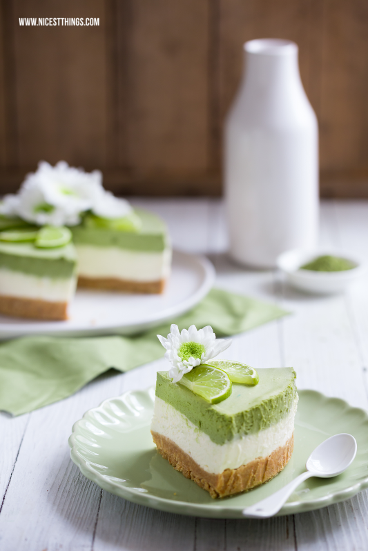 Matcha Green Tea Lime Cheesecake