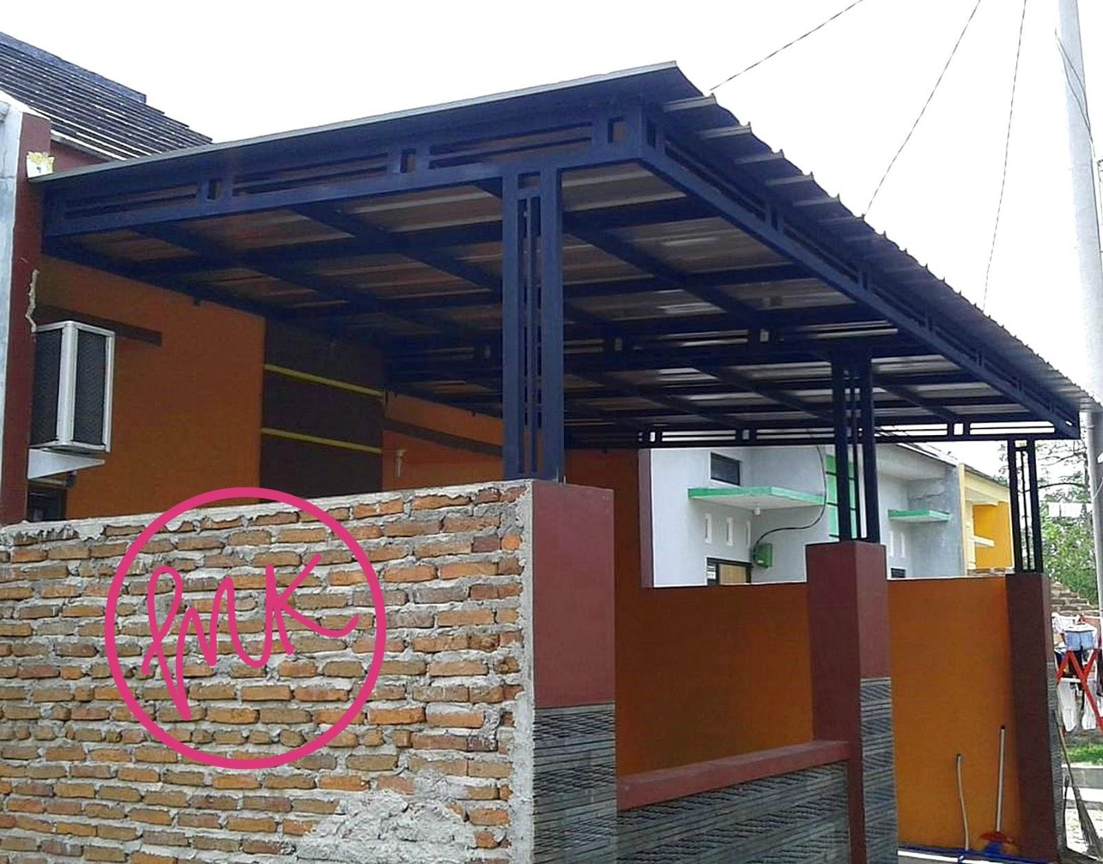 Kanopi besi rangka dobel kuat dari bengkel ahlinya canopy di Sidoarjo Surabaya