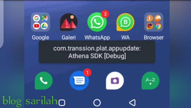 Cara mengatasi eror com.transsion.plat.appupdate: Athena SDK pada infinix hot 8