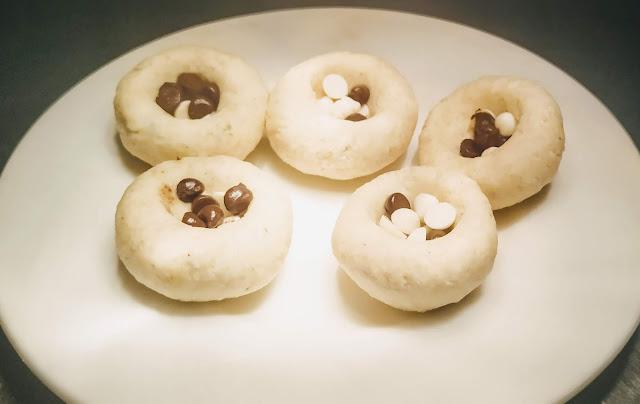 Chocolate chips Stuffed dough balls for Kala Jamun Recipe