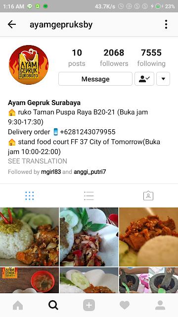 Ayam Gepruk Surabaya