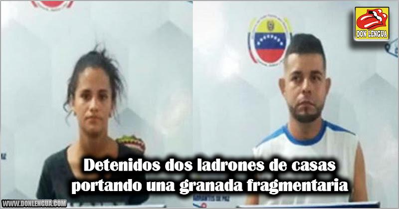 Detenidos dos ladrones de casas portando una granada fragmentaria
