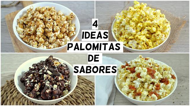 4 ideas de palomitas de sabores ¡dulces y saladas!