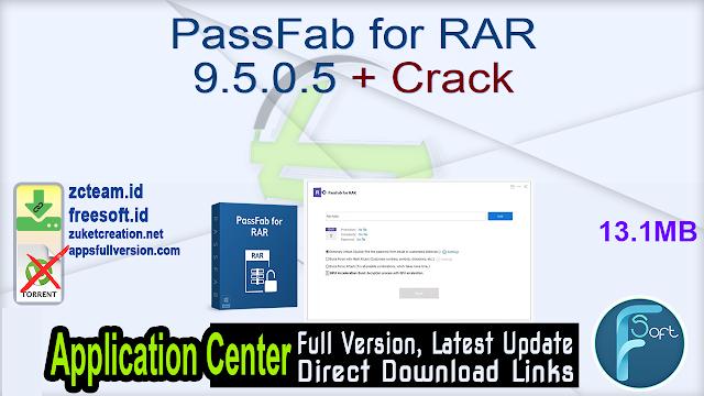 PassFab for RAR 9.5.0.5 + Crack_ ZcTeam.id