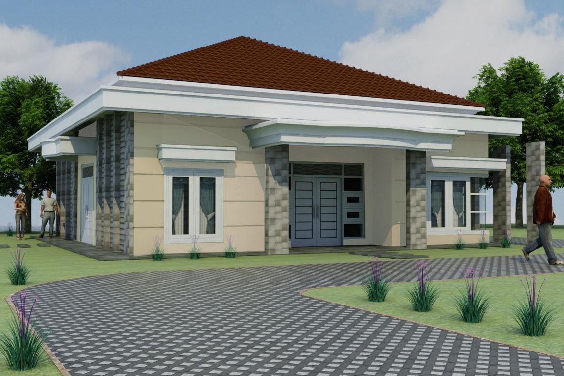 Desain Rumah Mewah 1 Lantai Beken Modern Minimalis