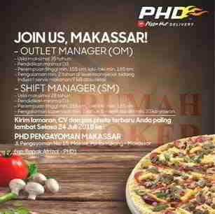 Lowongan Kerja di Pizza Hut Delivery Pengayoman Makassar