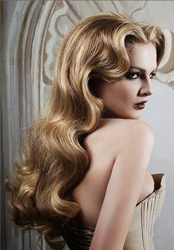 vintage hairstyles long hair