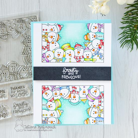 Snowman card by Tatiana Trafimovich | Snowman Party Stamp Set by Newton's Nook Designs #newtonsnook #handmade