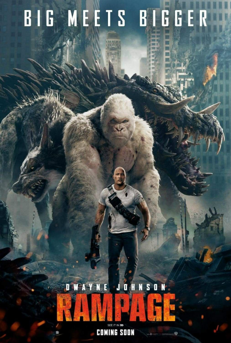 rampage movie poster