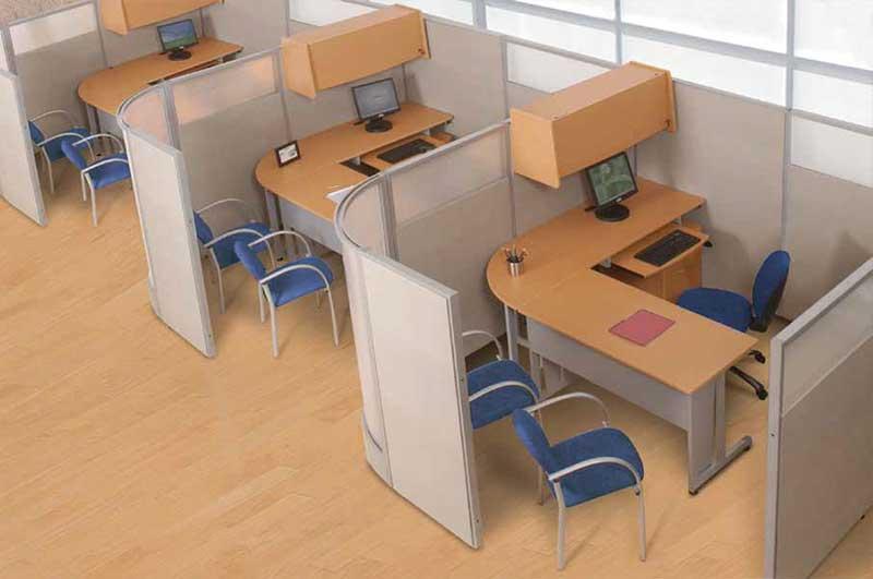 Cubical Workstation Meja Kerja Plus Partisi METRO