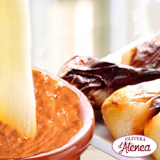 RECETA: calçots al horno con Salsa de Calçots o Romesco - Olivera d'Atenea