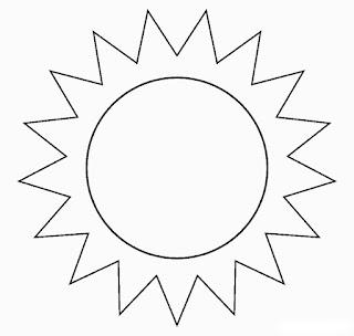 Desenho de sol para colorir