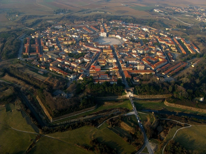 Small Italian town was a fortress in the shape of a nine-pointed star