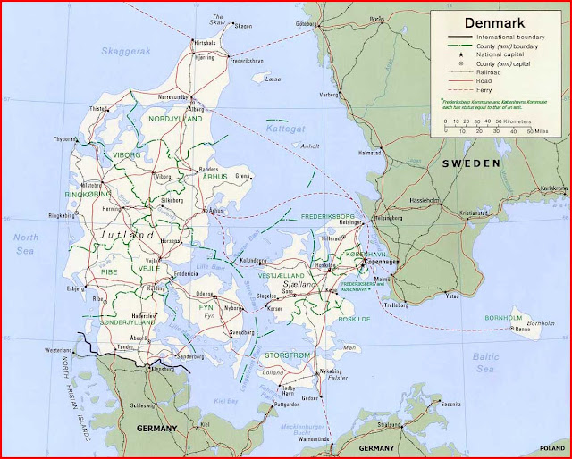 image: Denmark Political Map