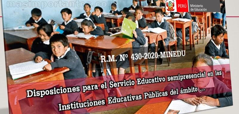 servicio educativo semipresencial en instituiones educativas