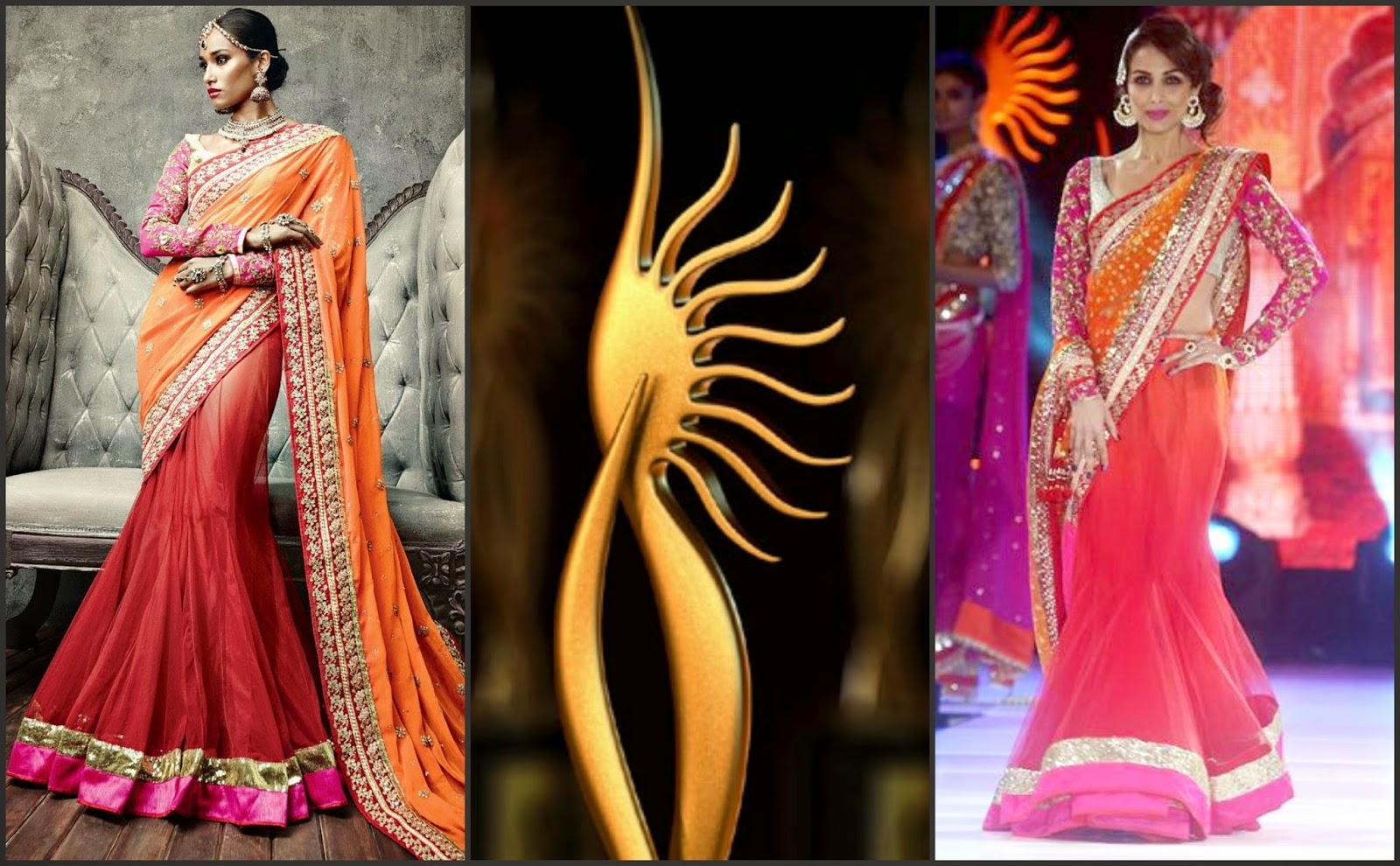 Malaika arora khan iifa saree, iifa saree 2014
