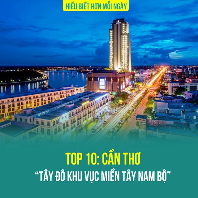 TOP 10: THÀNH PHỐ CẦN THƠ