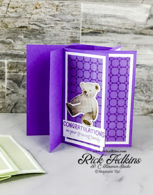 Learn how to make an A2 Pinwheel Tower Card featuring the All for Baby Bundle from Stampin' Up!