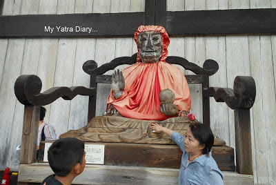 The healing buddha at the Todaiji Temple in Nara, Japan