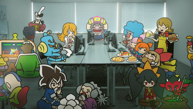 WarioWare Get It Together! cast of characters illustration