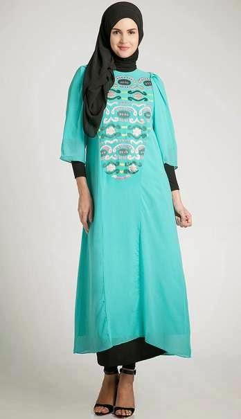 Baju hamil muslim pesta trendy dengan desain modis