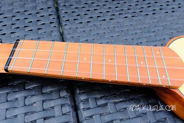 Antica Ukuleleria Allegro Sopranino Ukulele neck