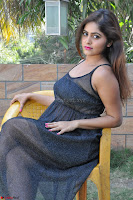 Pragya Nayan New Fresh Telugu Actress Stunning Transparent Black Deep neck Dress ~  Exclusive Galleries 044.jpg