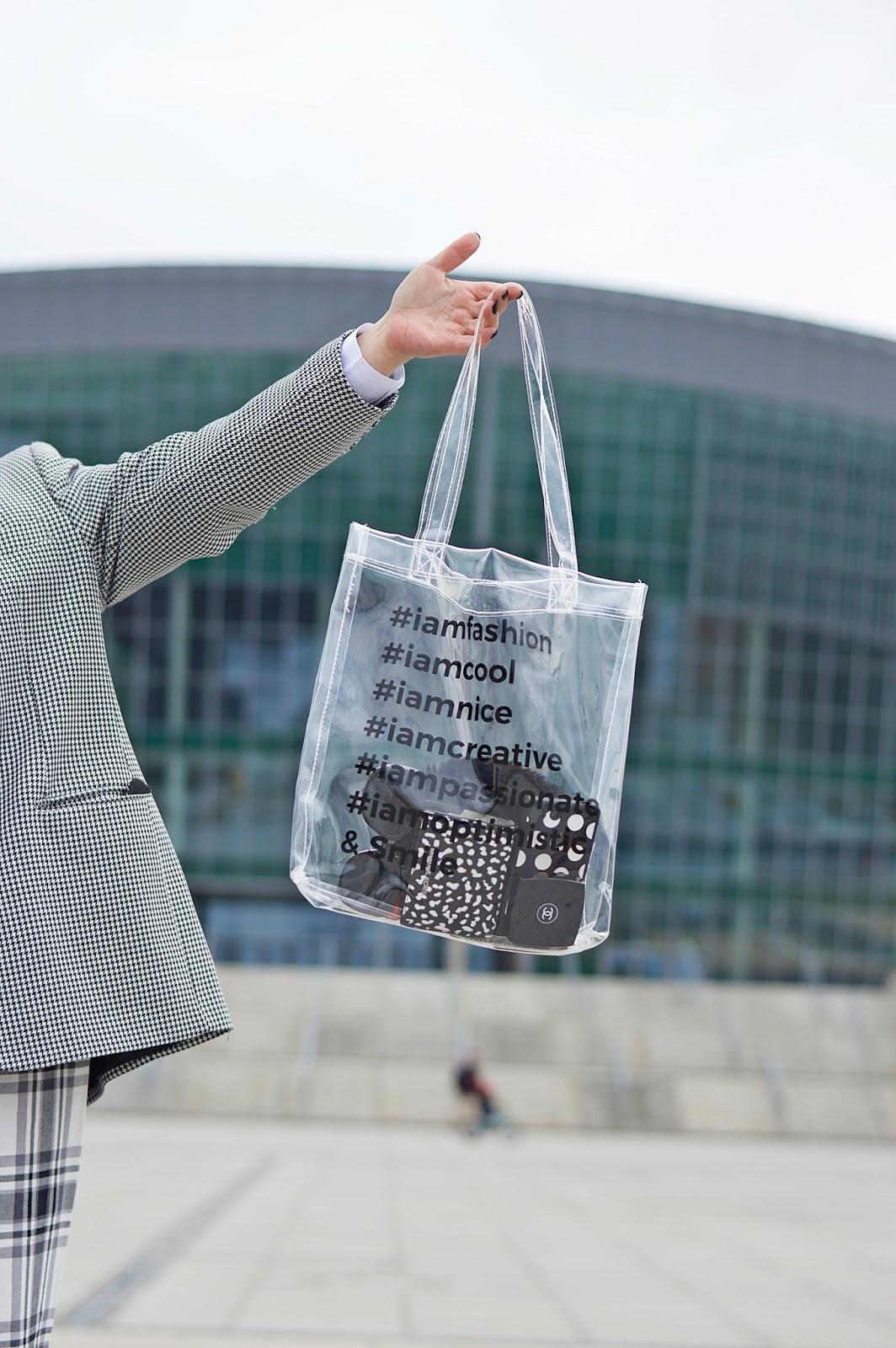 Transparentna torebka, przezroczysta torebka