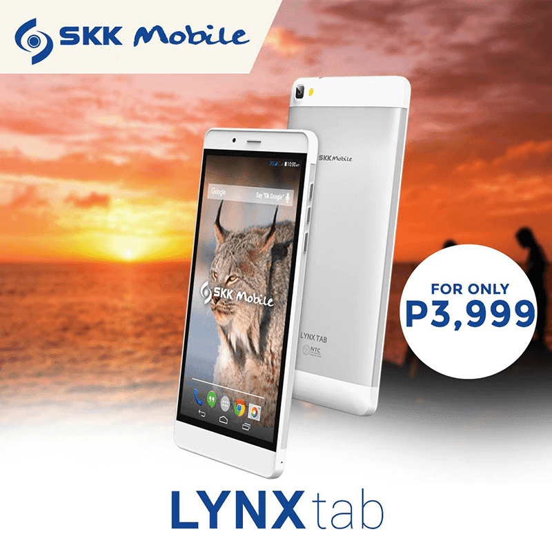 SKK Lynx Tab Announced! 7 Inch, Quad Core, 3300 mAh For 3999 Pesos!