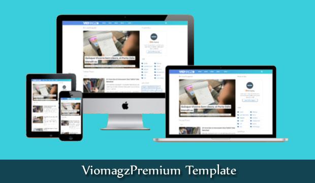 Viomagz Premium Blogger Theme