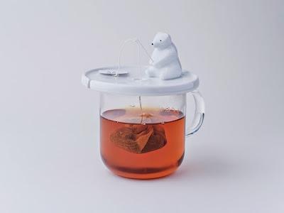 Varietats shirokuma a tea bag holder by necktie for Fish tea bags