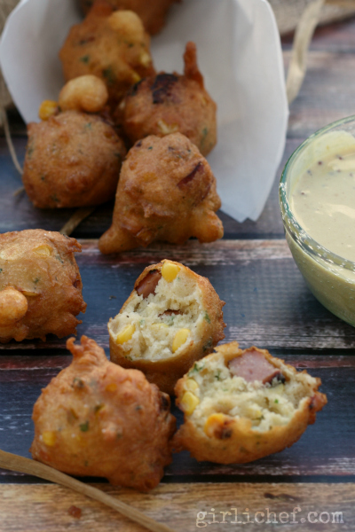 Corn and Smoked Sausage Fritters